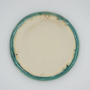 【M038tb】パンとごはんと...  艶釉の器 PLATE M turkey blue