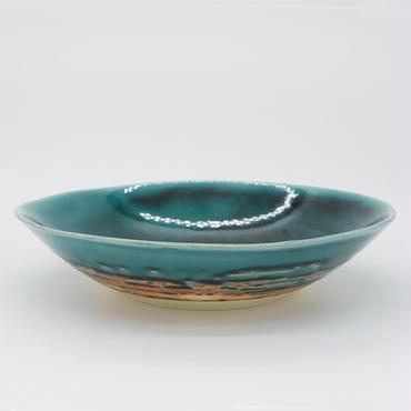 【M013tb】パンとごはんと...  艶釉の器 BOWL L turkey blue