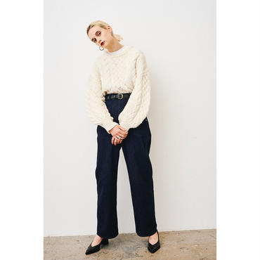 CLANE      CABLE PUFF KNIT TOPS