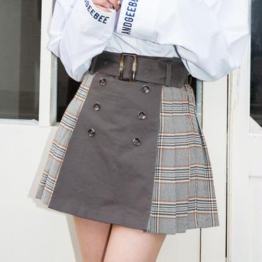 <ANDGEEBEE>ブロッキングチェックプリーツスカート AG184SK08