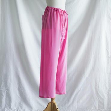 silk パンツ rose