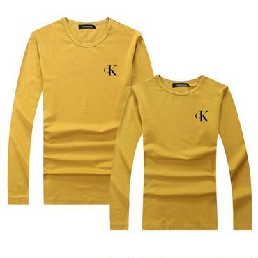 イエロー 秋新作 人気Calvin Klein長袖シャツ カルバンクライントレーナー 男女サイズ レディース メンズ カルバンクラインTシャツ