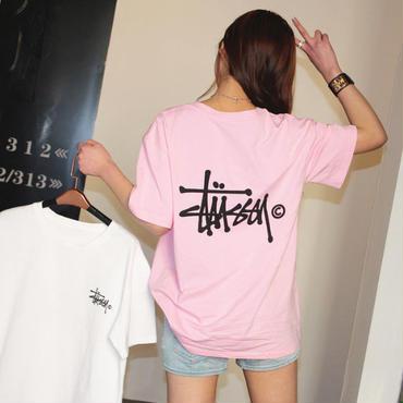 ステューシー半袖シャツ 人気 綿生地 インナー アウター 夏愛用 3色選択 レディース STUSSYTシャツ メンズ 男女兼用
