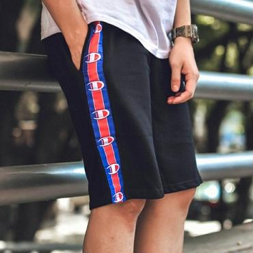 大人気 チャンピオンショートパンツ メンズ愛用 紳士 短パン 運動適用 ブラックのみ 小ロゴ Championパンツ ユニセックス