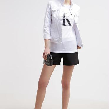 Calvin Klein純色Tシャツ 男女兼用 レディースファッション メンズファッション ペアルック インナー愛用 白黒灰3色 カルバンクライン
