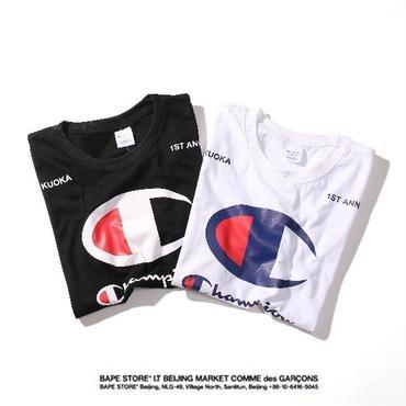 チャンピオンtシャツ 人気半袖 白黒選択 2色選択