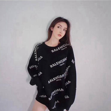 人気バレンシアガ ロングスウェット 男女兼用 ニット オシャレ レディースファッション 大人気セーター