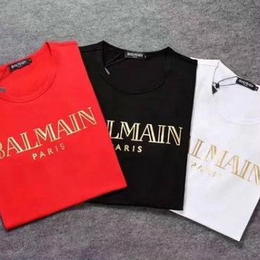 新入荷 バルマンTシャツ メンズ用 インナー オシャレ 人気半袖 可愛い レディース 3色選択 トップス