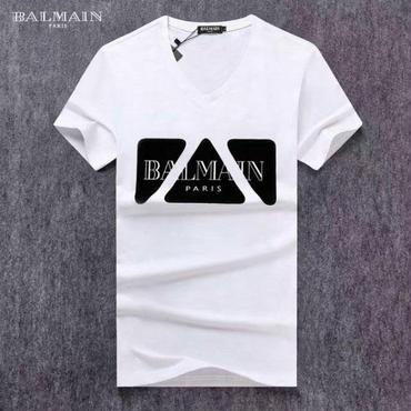 バルマンBalmain新作 Tシャツ 男女兼用 人気半袖 オシャレ 人気美品 可愛い レディース トップス メンズ用 ペアルック