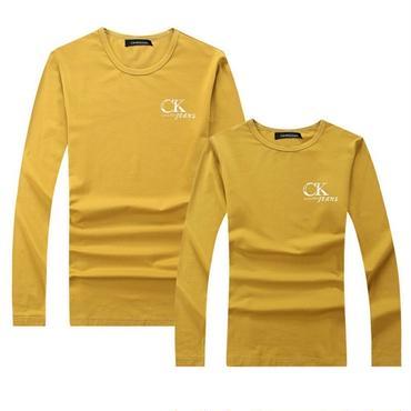 イエロー 秋新作 冬 人気Calvin Klein長袖シャツ 男女兼用 カルバンクライントレーナー Tシャツ 高品質 可愛い 黄色 明るい