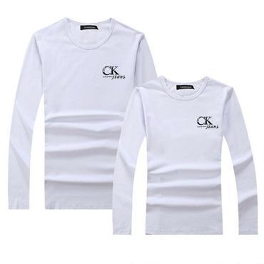 ホワイト CALVIN KLEIN長袖シャツ 男女兼用 カルバンクライント長袖Tシャツ 高品質 可愛い ペアルック