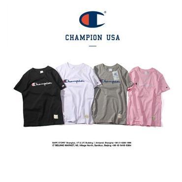 チャンピオン男女兼用 tシャツ 4色選! tシャツ 半袖 カジュアル 刺繍ロゴ