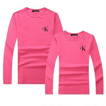 ピンク 秋新作 人気Calvin Kleinトレーナー 男女サイズ レディース メンズ カルバンクラインTシャツ 長袖シャツ