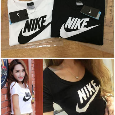 Nike夏愛用Tシャツ 大人気ナイキシャツ レディース 腹出しTシャツ 半袖 インナー ホワイト ブラック 夏セール  へそ出し