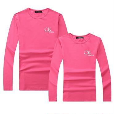 ピンク 秋新作カルバンクライントレーナー 人気Calvin Klein長袖シャツ 男女兼用 レディース メンズ Tシャツ 高品質