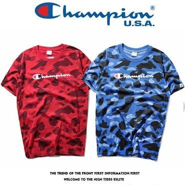 大人気 チャンピオンコラボtシャツ カジュアル ペアルック用 カップル愛用 赤青2色