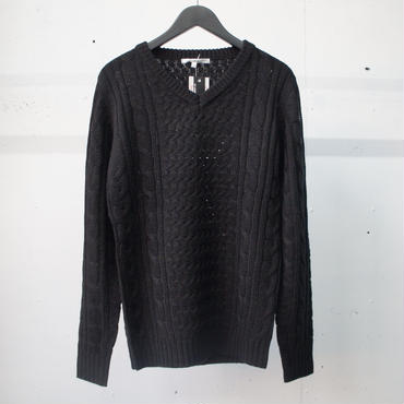 4X Cable Knit Black