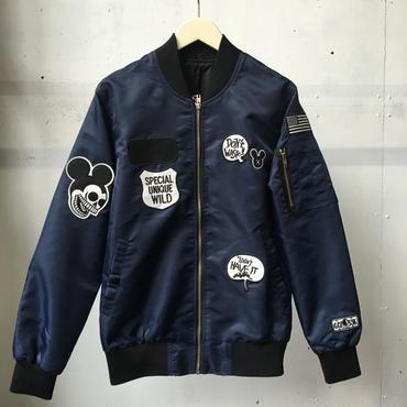 fuzzy ワッペンナイロン MA-1ジャケット