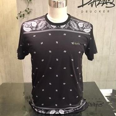 ペイズリーロング丈Tシャツ