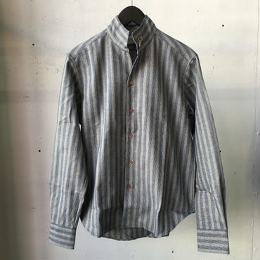 AFAME ストライプスタンドカラーシャツ
