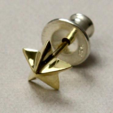 studded star pierce K18 L
