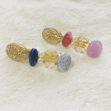 mix stone hair accessory