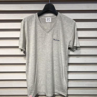 D16SS-005《V Neck Logo Tshirt》C/# OATMEAL