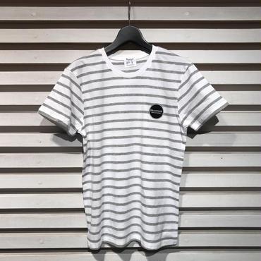 D17005《Boder Tshirts》C/# WHITE×GREY
