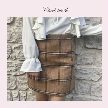 ブラウンミニタイトスカート