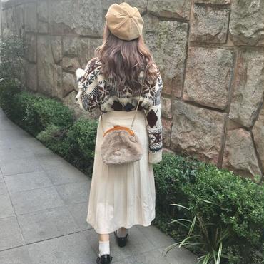 アイボリーニットスカート