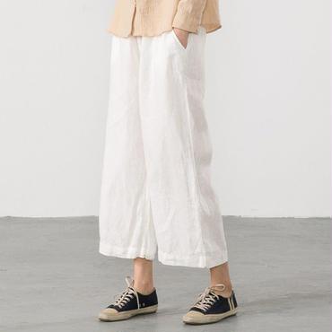 さらり麻綿パンツ 3 color