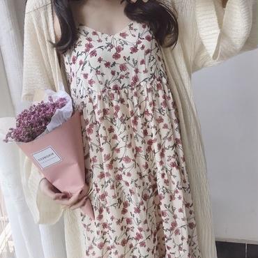 花柄ノースリーブワンピース