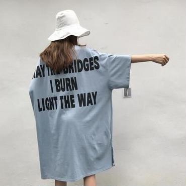 ロングTシャツワンピース 2color