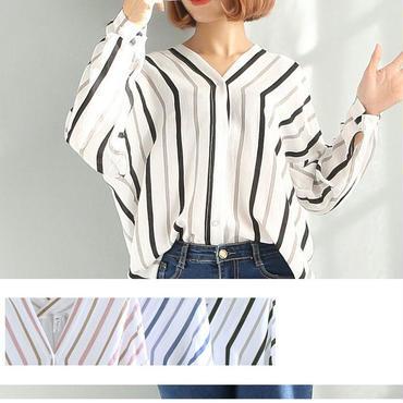 Vネックスキッパーシャツ 3color