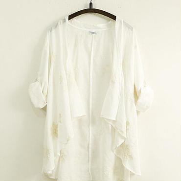 麻綿 アウターシャツ 2color