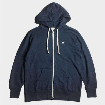 ONE POINT EMB ZIP HOOD