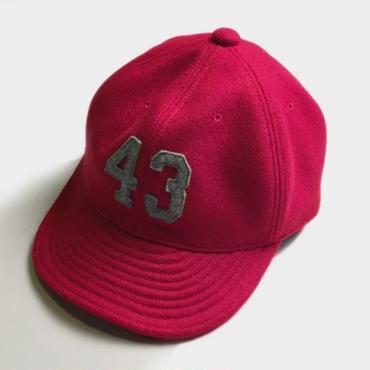 43 LOGO WOOL BESEBALL CAP (RED)
