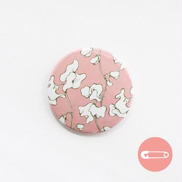 花柄テキスタイル_サーモンピンク&ホワイト【31mm】