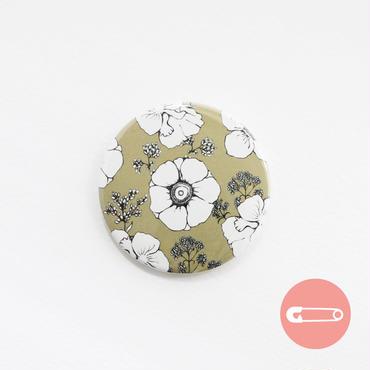 花柄テキスタイル_ブラック&ゴールド【54mm】