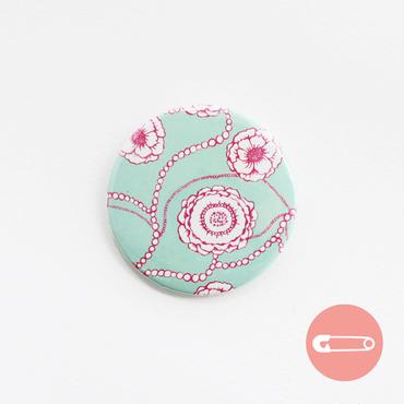 花柄テキスタイル_ミントブルー&ピンク【31mm】