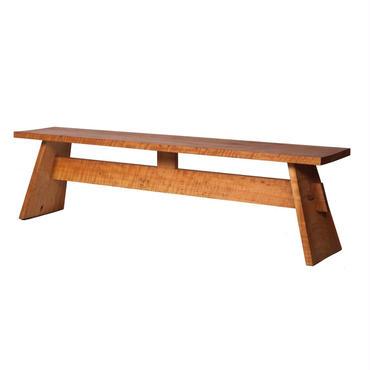 木組のベンチ