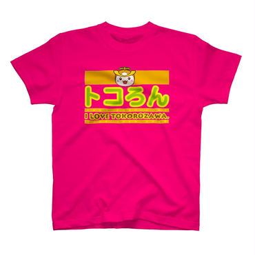 トコろん ロゴTシャツ トロピカルピンク