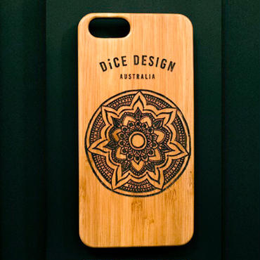 "Bamboo iPhone case A ""Mandala"" ( SE / 7 / 8 / X )"