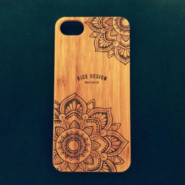 "Bamboo iPhone case D ""Sunflowers"" (SE/6/6s/7/8/X/7Plus/8Plus)"