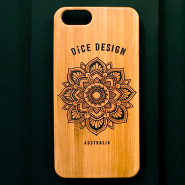 "Bamboo iPhone case B ""Sunflower"" ( SE / 7 / 8 / X )"