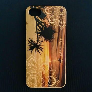 "Bamboo iPhone case E ""Sunset"" (SE/6s/7/8/X)"