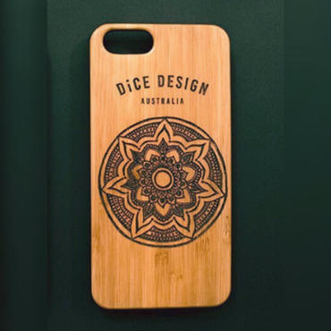 "Bamboo iPhone case A ""Mandala"" (SE/6/6s/7/8/X/7Plus/8Plus)"