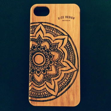 "Bamboo iPhone case C ""Big Mandala"" ( SE / 7 / 8 / X )"