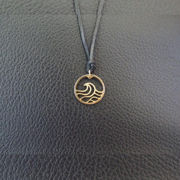 Wave COiN Pendant Top [K18 Yellow Gold]