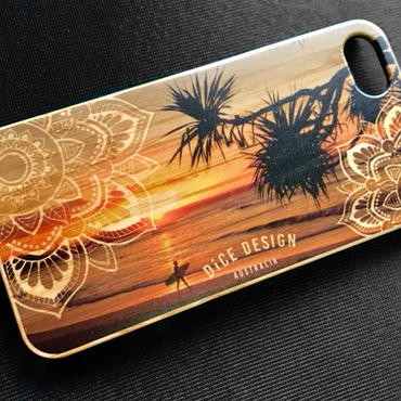 "Bamboo iPhone case E ""Sunset"" ( SE / 7 / 8 / X )"